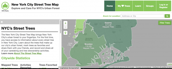 new york green maps
